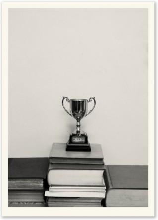 Erica Donovan, Winner's Trophy (2011), screen print on paper, edition of 10, 70x50cm