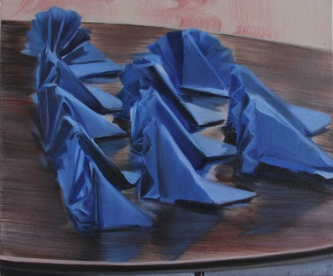 Caroline Walker, Fan Dance (2012), oil on canvas, 50x60cm