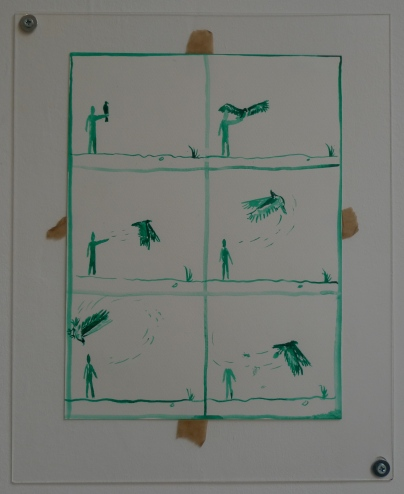 Jamie Partridge, You think you understand something and it turns around and destroys you (2012), ink on paper, 32x24cm
