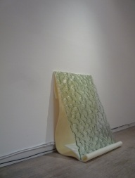 David Buckley 'The White City' (2012), kiln-formed wired glass, foam rubber