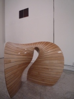 Assa Ashuach 'Venturi Stool (2007), maple with oak, unique