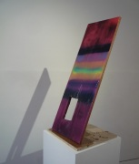 Robert Phillips 'Incidental Object (Inclination)' (2013), spray-paint and epoxy resni on birch plywood, chipboard