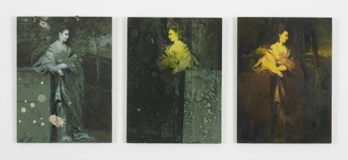 Ross Chisholm last dance, 2011 oil on panels, 3 parts each 24 x 18 cm each Courtesy the artist and Ibid, London; Marc Jancou Contemporary, New York; and Grieder Contemporary, Zurich.